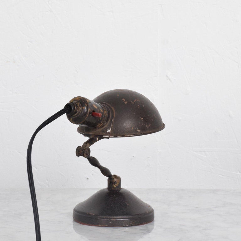 American Industrial Desk or Wall Sconce Lamp, Mid-Century Period For Sale