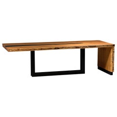 Industrial Dining Table Tala in Solid Wood by Larissa Batista