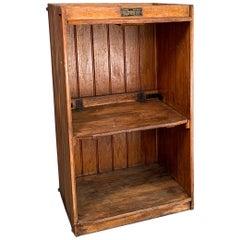 Industrial Douglas Fir Dumbwaiter Cabinet By Sedgewick