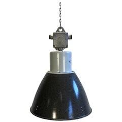 Industrial Enamel Factory Lamp, 1960s