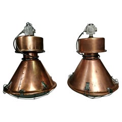 Industrial European Big Original Vintage Copper Pendant Lights