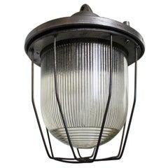 Industrial European Ceiling Lamp Type C-200/A, 1960s
