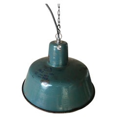 Industrial Factory Ceiling Lamp from Wikasy A23, 1960s