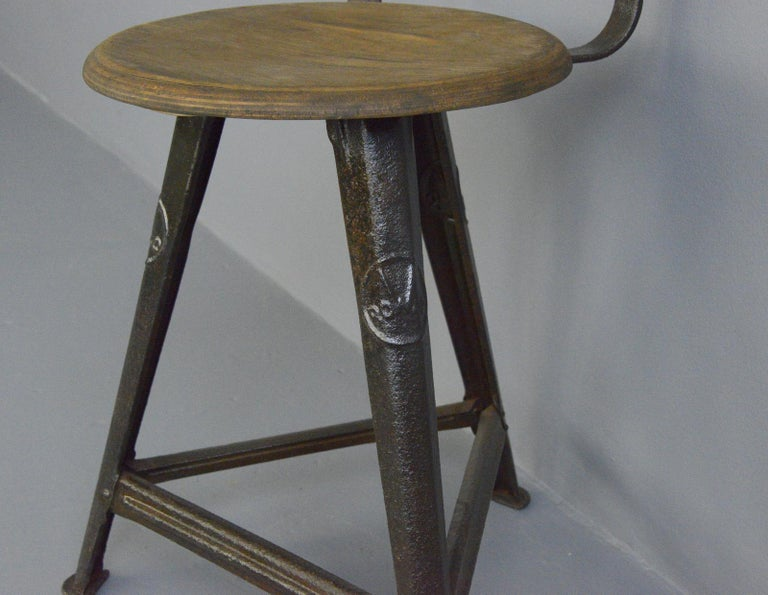 Bauhaus Industrial Factory Chair by Rowac, circa 1920s For Sale