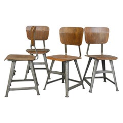 Industrial Factory Chairs by Rowac, circa 1920s