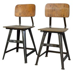 Industrial Factory Chairs by Rowa, circa 1920s