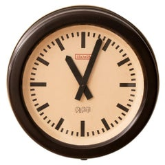 Industrial Factory Clock by RFT, c.1960
