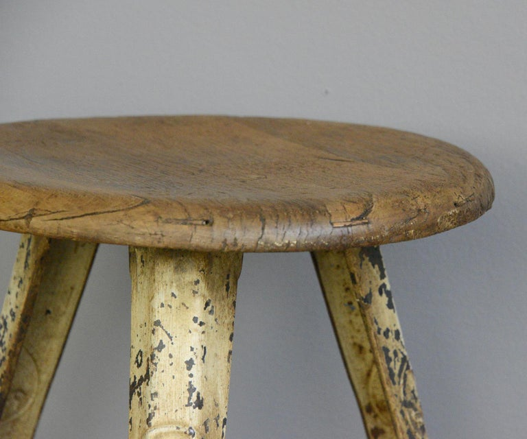 Early 20th Century Industrial Factory Stool by Rowac, circa 1920s