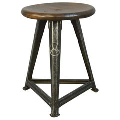 Industrial Factory Stool by Rowac, circa 1920s