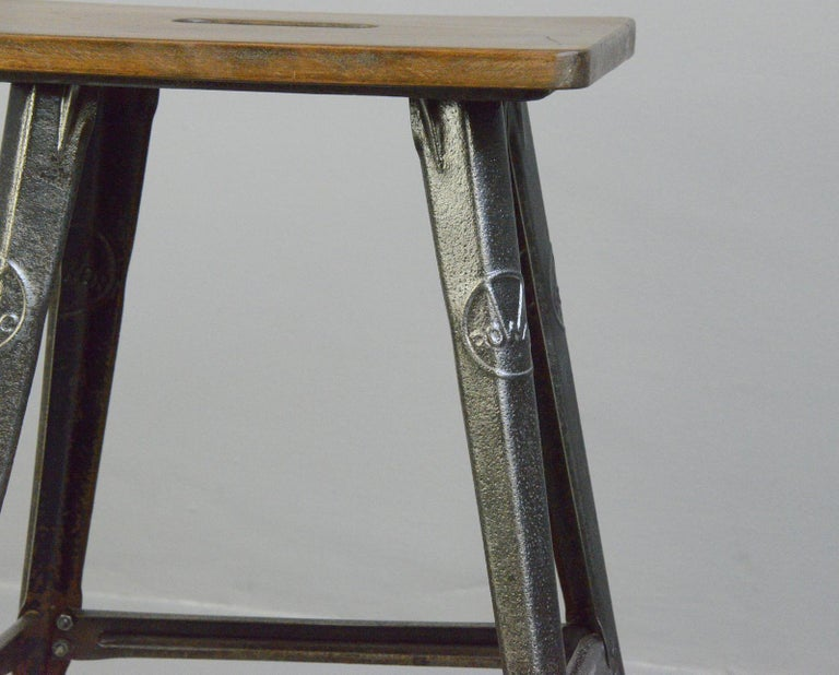 Industrial factory stool by Rowac, Circa 1930s  - Relief