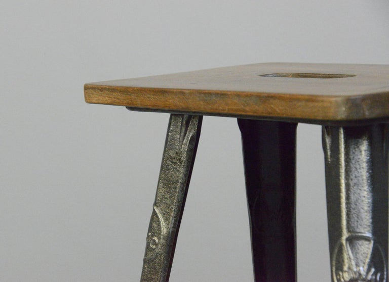 Industrial Factory Stool by Rowac, Circa 1930s For Sale 1