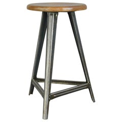 Industrial Factory Stool by Rowac, circa 1930s