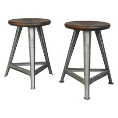 Industrial Factory Stools by Rowac, circa 1920s