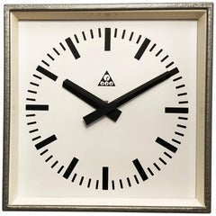 Industrial Factory Wall Clock by Pragotron
