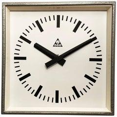 Industrial Factory Wall Clock by Pragotron