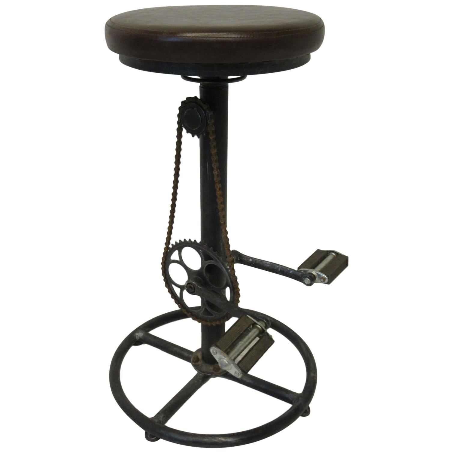 Industrial Folk Art Bicycle Stool