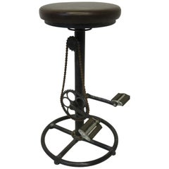 Industrial Folk Art Bicycle Stool