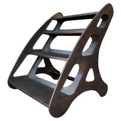 Industrial French Iron Factory Step Ladder, circa 1930