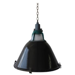 Industrial Hanging Pendant Light, Russia, 1960s, Pair Available