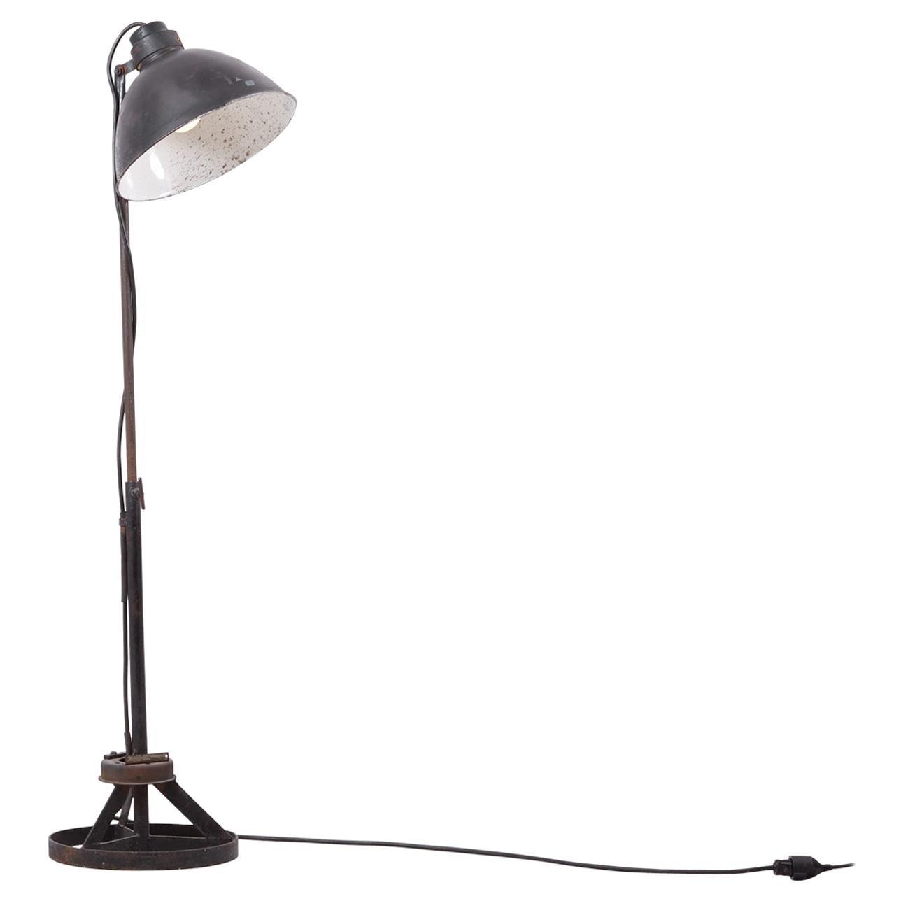 Industrial Height Adjustable Floor Lamp Bauhaus