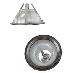 Industrial Holophane Lights, circa 1950s