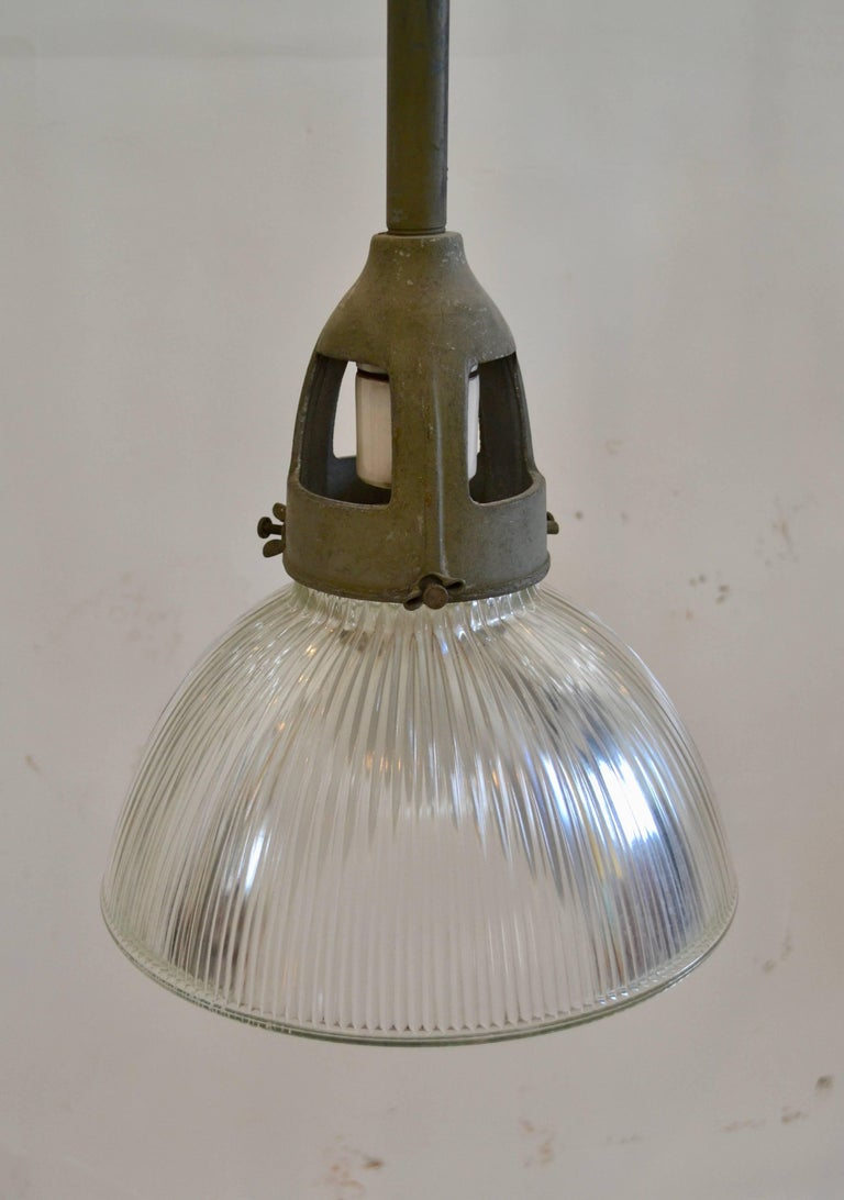 Industrial Holophane Pendant Lights In Good Condition For Sale In Baltimore, MD