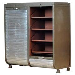 Industrial Iron and Aluminium Cabinet, 1960s