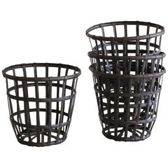 Industrial Iron French Baskets