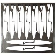 Industrial Knife Sculpture Wall Art