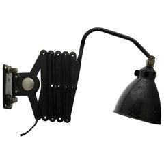 Industrial Large AGI Belgium Scissor Task Lamp Wall Sconce, 1950s
