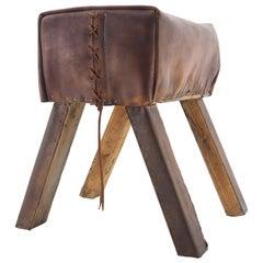 Stylish Industrial Leather Gymnastic Seat/Decoration/Aid