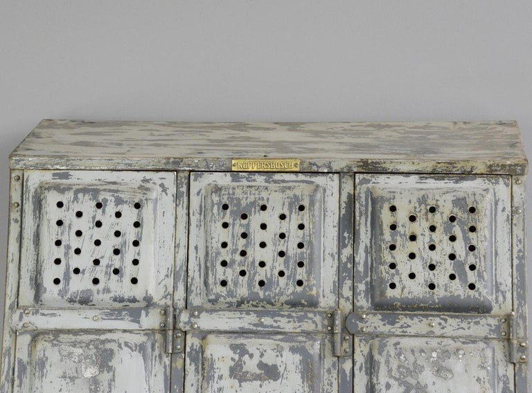 Industrial Lockers by Kuppersbusch, circa 1920s In Good Condition In Gloucester, GB