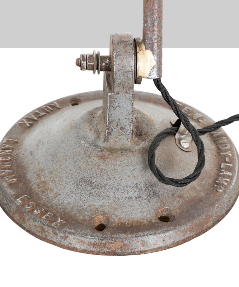 English Industrial Machinists Lamp For Sale