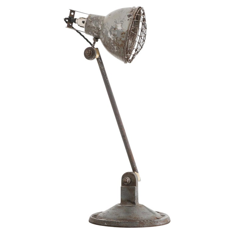 Industrial Machinists Lamp For Sale