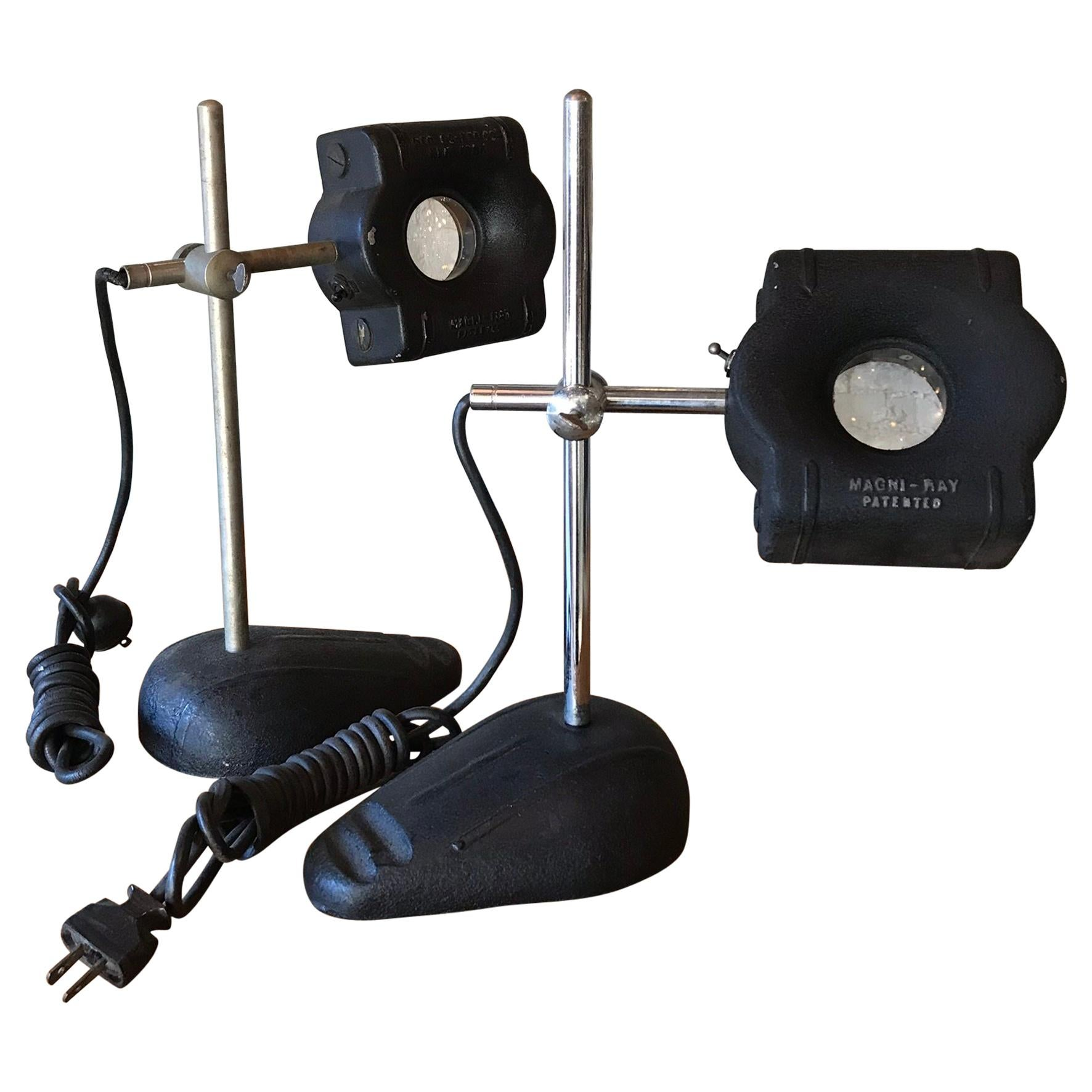Industrial Magni-Ray Magnifying Jeweler's Table Lamps