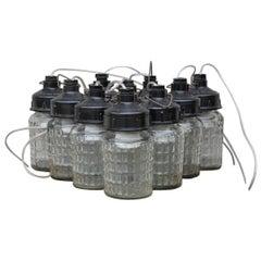 Industrial 'mason jar' Lights, 1970s