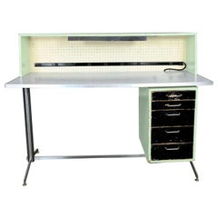 Industrial MCM Stand Up Desk Worktable by American Optical Consul Furniture Line