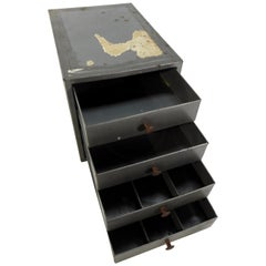 Industrial Metal Box with Drawers Midcentury