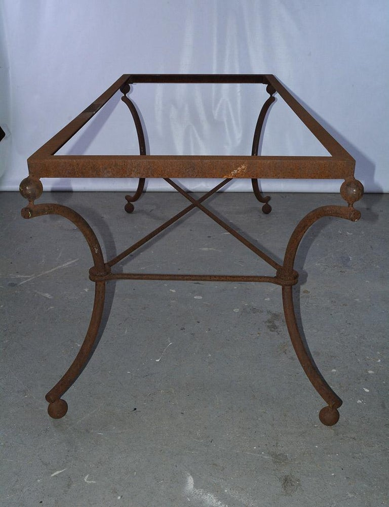 French Industrial Metal Dining Table Base For Sale