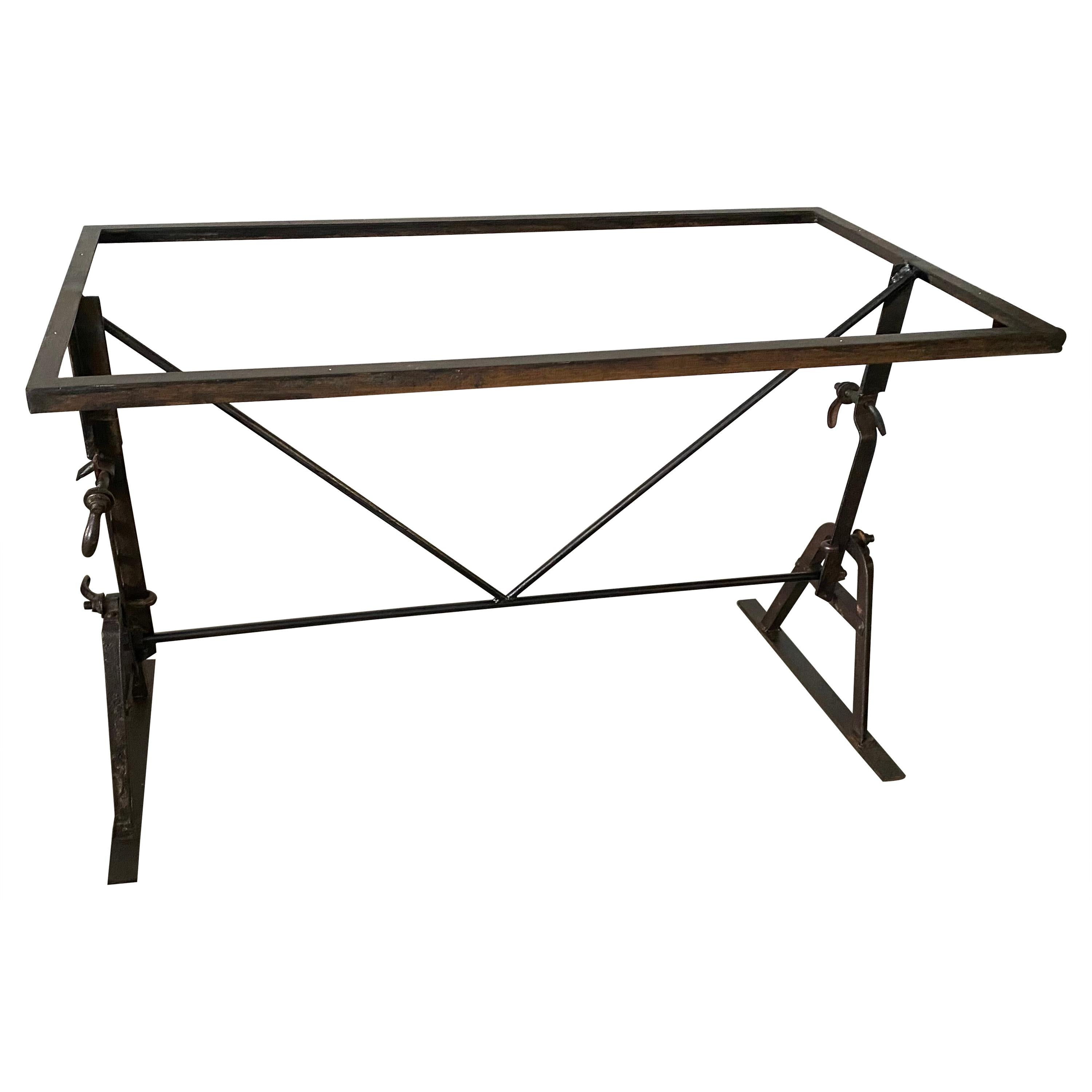 Industrial Metal Dining Table Base