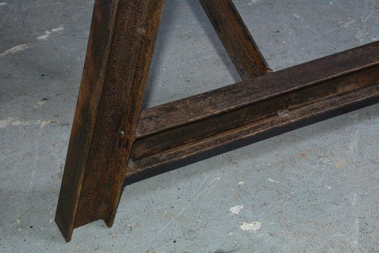 Industrial Metal Saw Horse Table Base For Sale 5