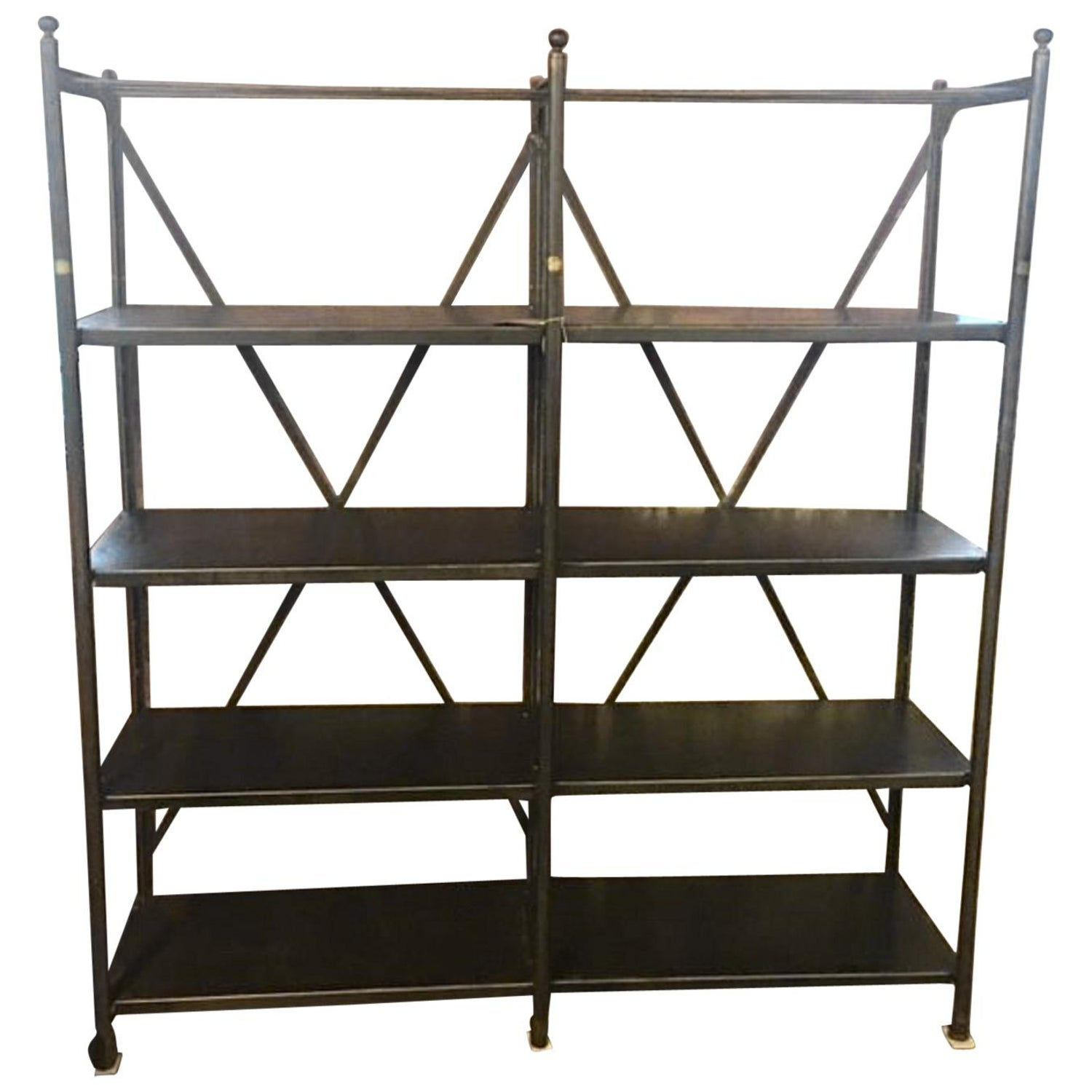 Industrial metal shelving unit by theodore scherf paris france 19th century for sale at 1stdibs