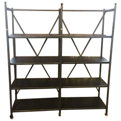 Industrial Metal Shelving Unit, by Theodore Scherf, Paris, France, 19th Century