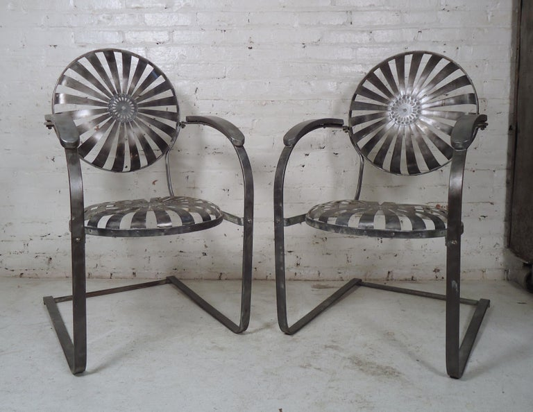 Industrial Metal Spring Chairs For Sale 6