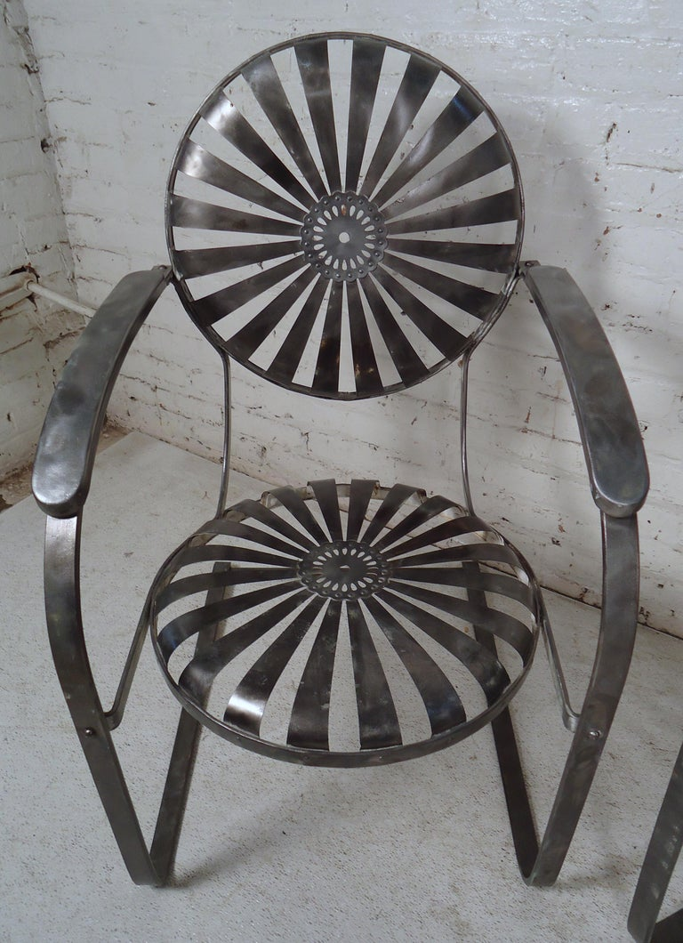 Industrial Metal Spring Chairs For Sale 1
