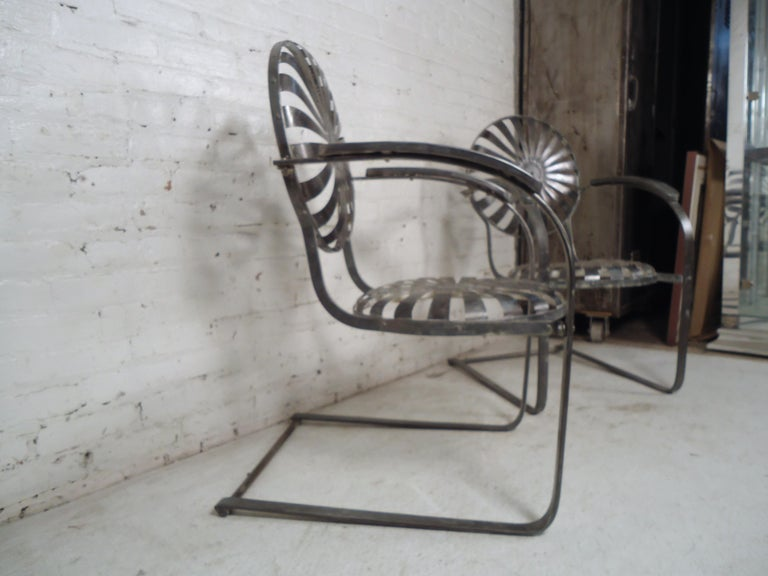 Industrial Metal Spring Chairs For Sale 5