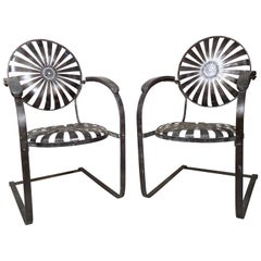Industrial Metal Spring Chairs