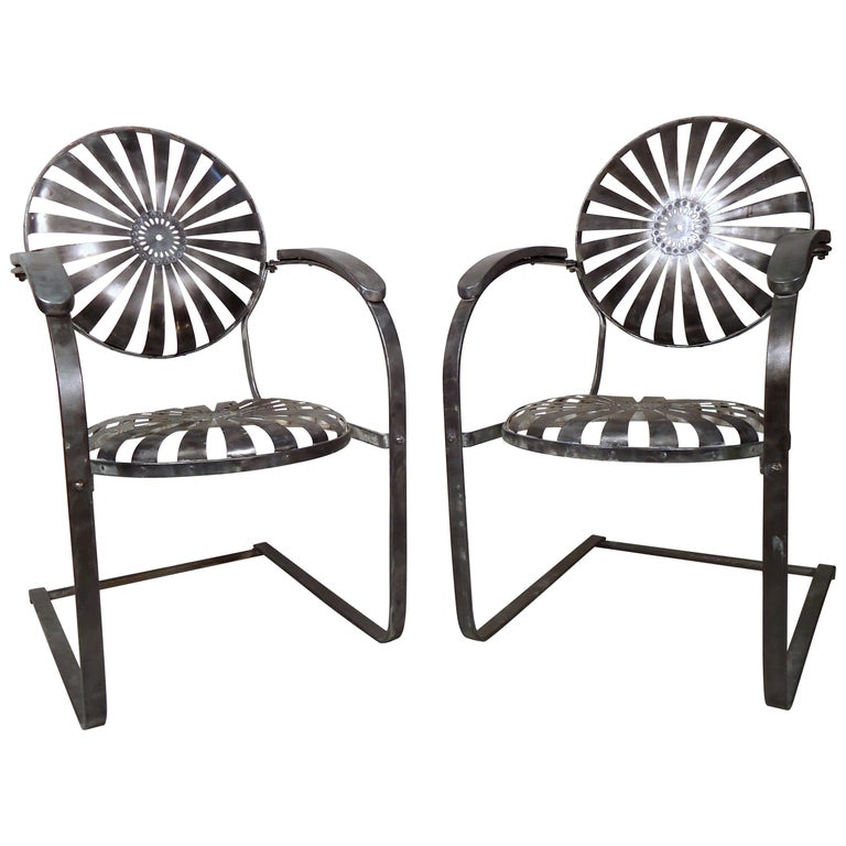 Industrial Metal Spring Chairs For Sale