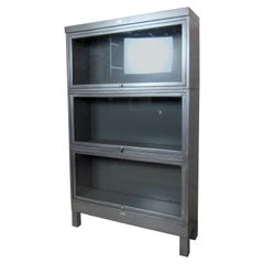 Industrial Metal Three-Stack Bookcase