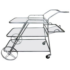 Industrial Metal Three-Tier Cart